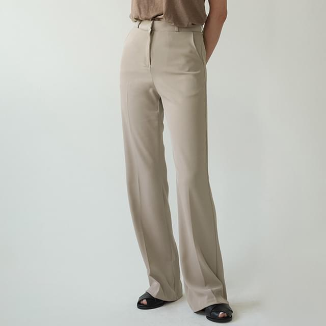 Slim Flared maxi slacks