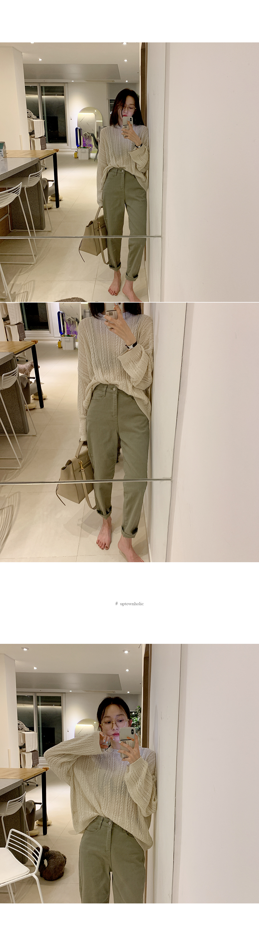 See-through pattern knit ivory