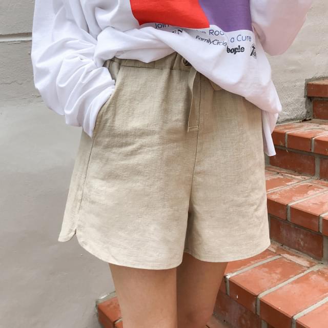 Short Linen Short Pants