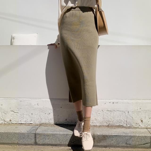 Tim knit long skirt