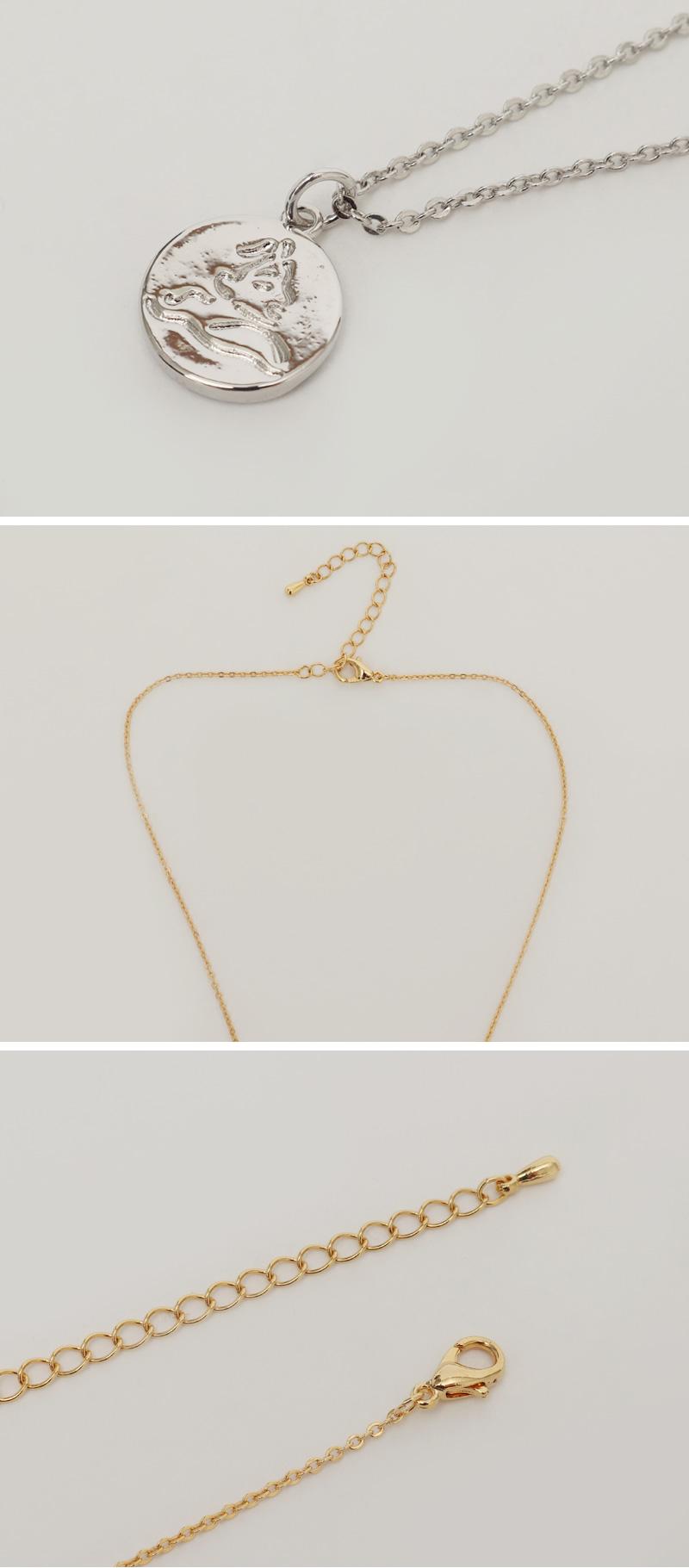 Minimal pendant necklace_H