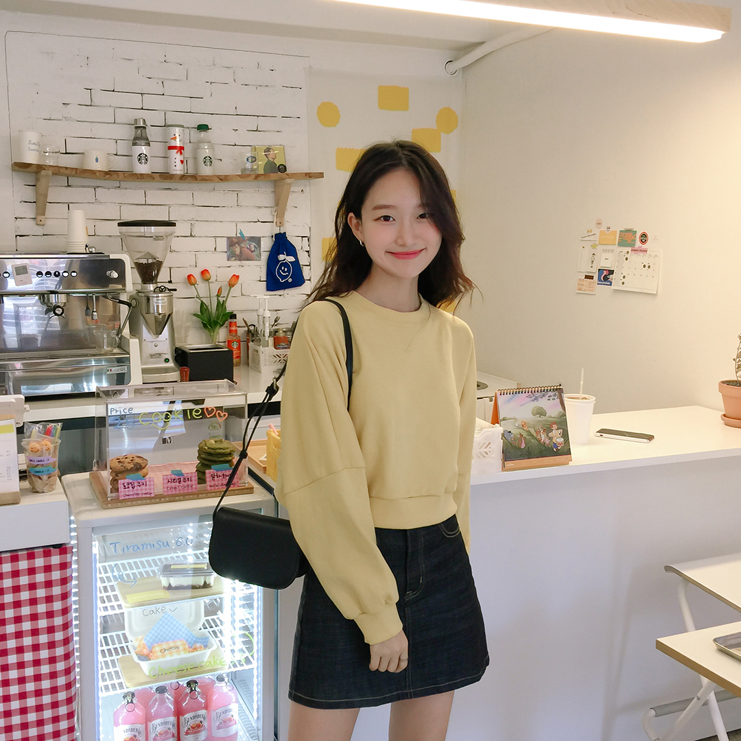6409 dough black denim skirt