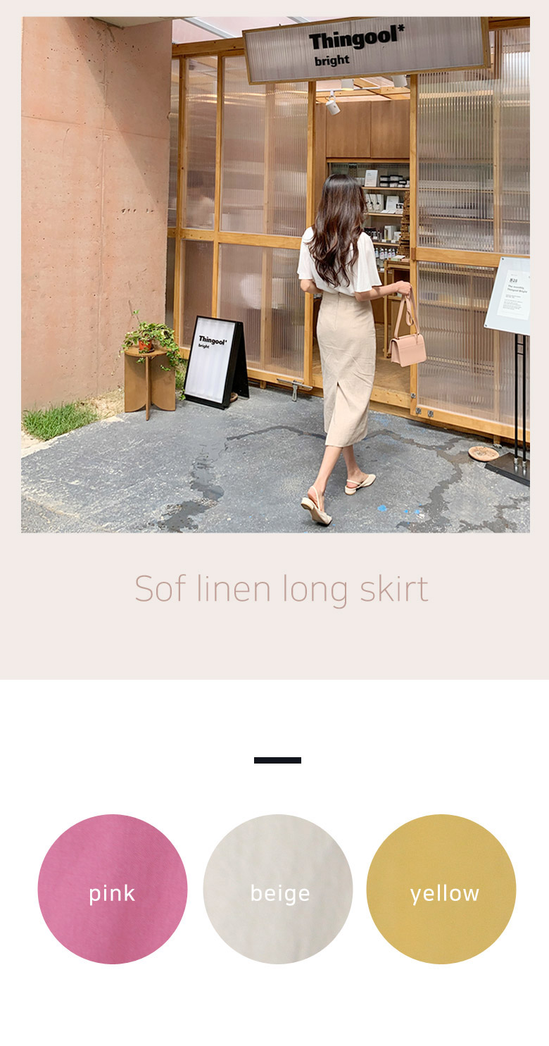 SOF linen long skirt