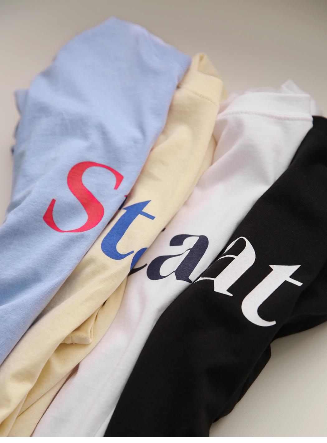 'Staat' 프린팅반팔티
