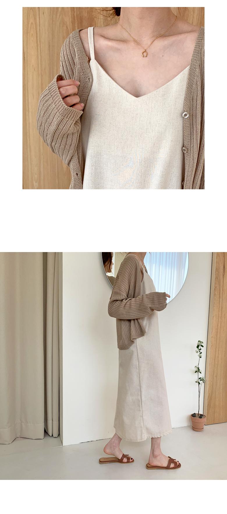 Ad Linen Sleeveless Long Dress