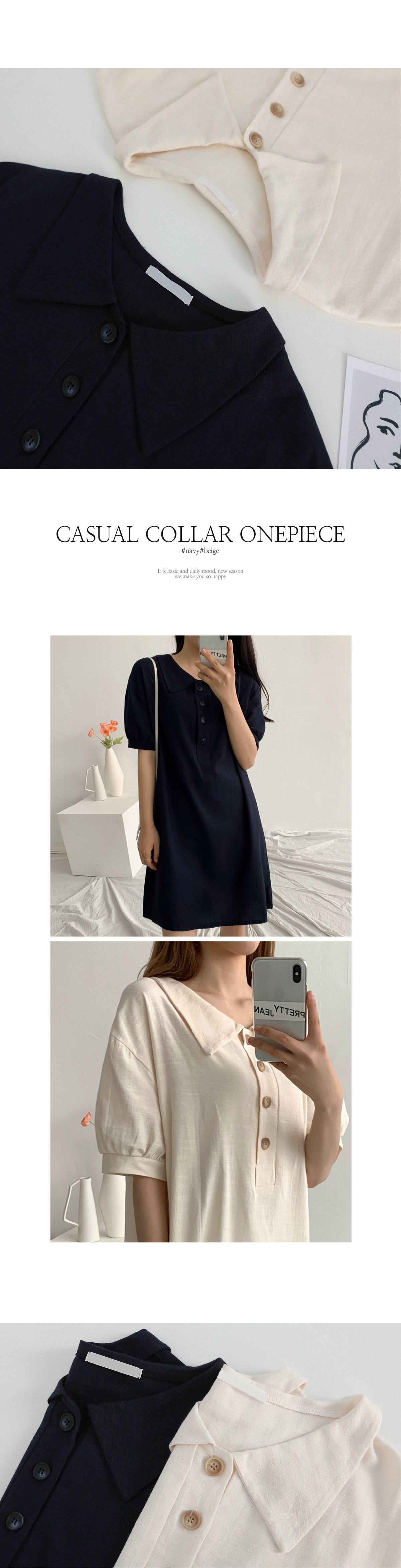 May Linen Picket Dress