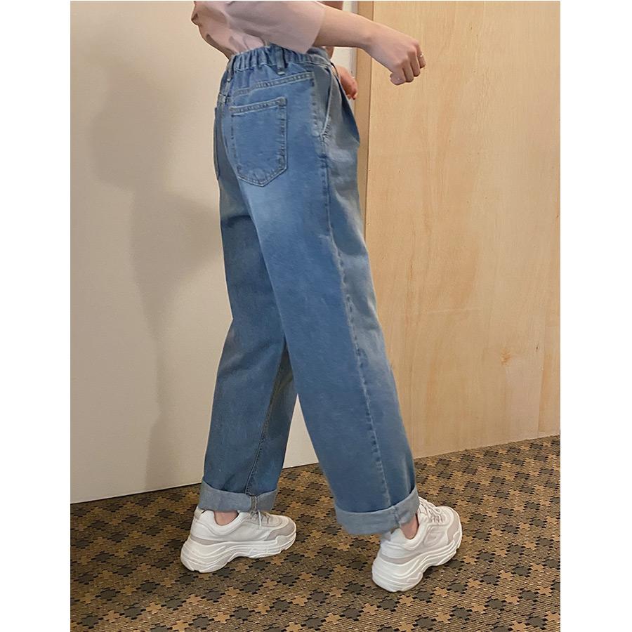 Hardy banding wide denim pants