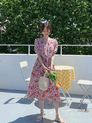 BB Puff Long Dress