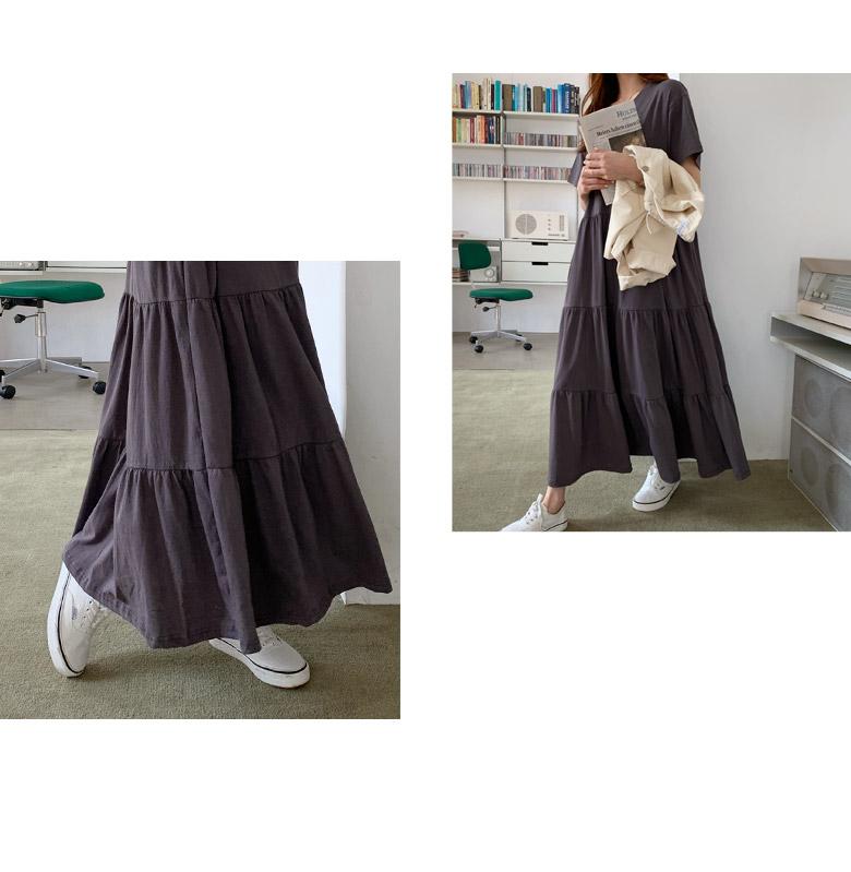 Plan Loose Fit Cancan Long Dress