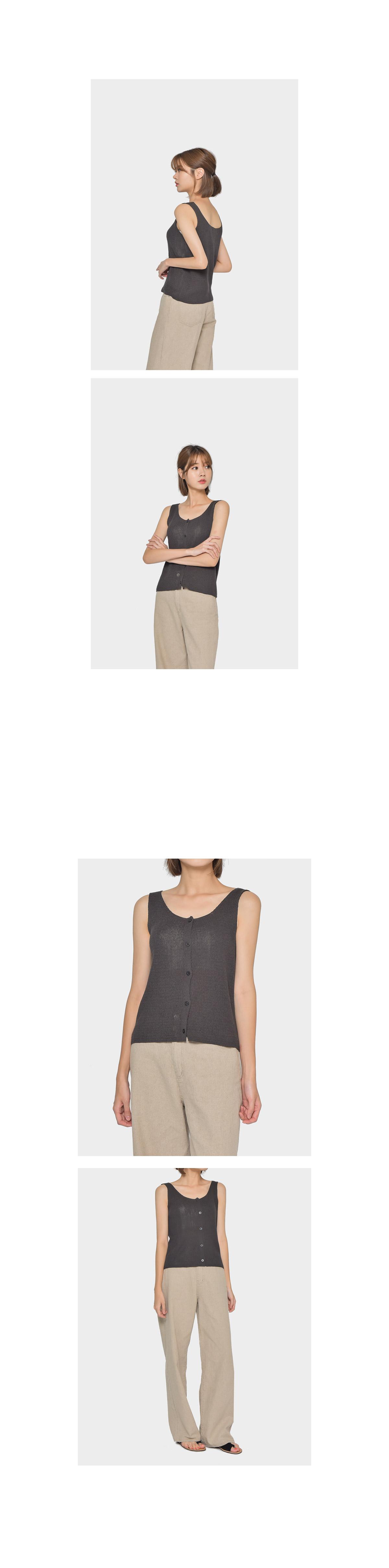 Henry linen sleeveless