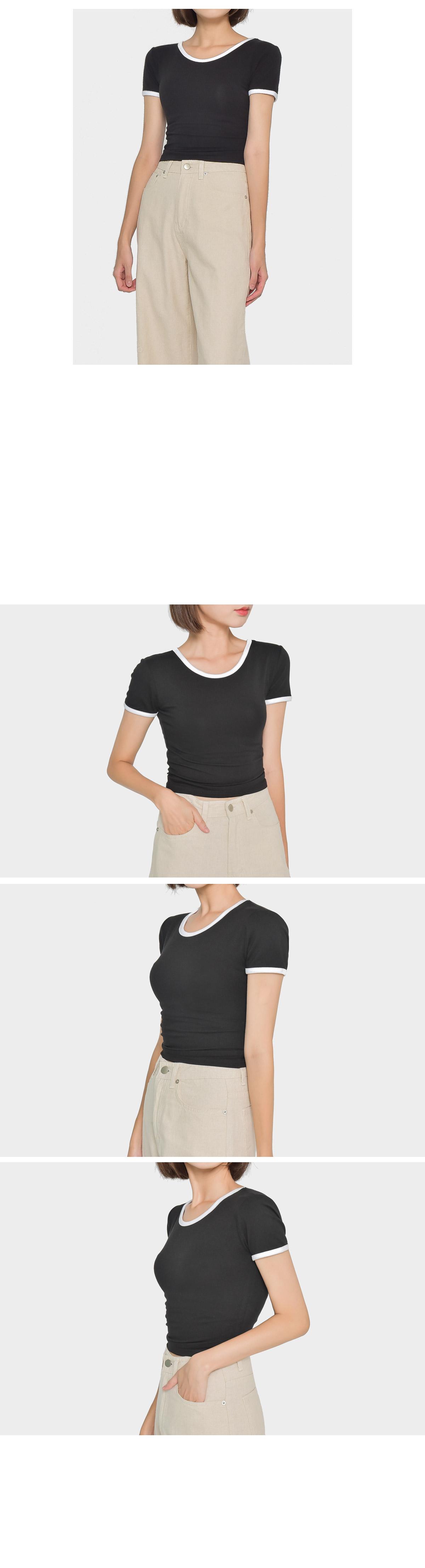 Modal cropped half t-shirt