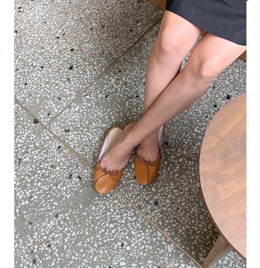 Charming ribbon plat shoes_C