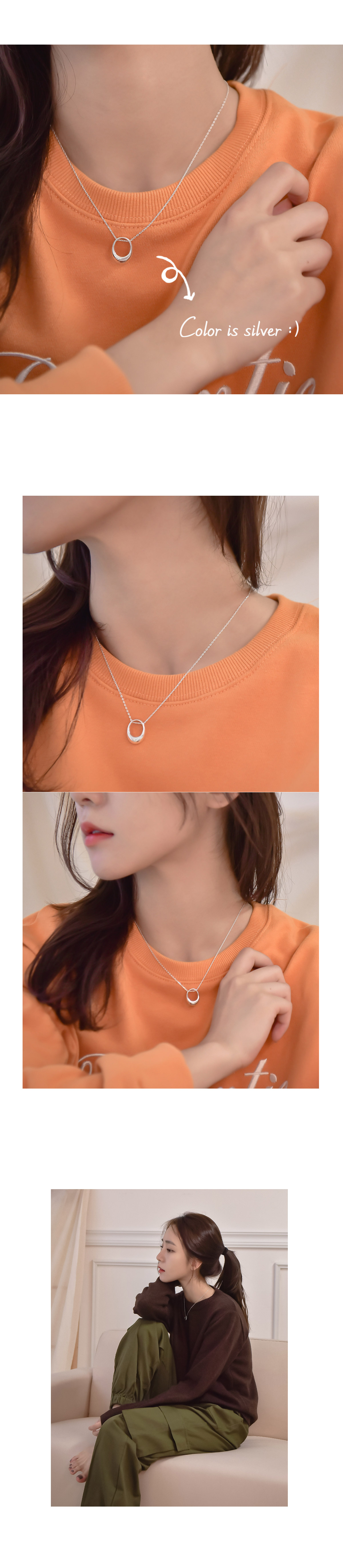 Cord Silver Necklace _H