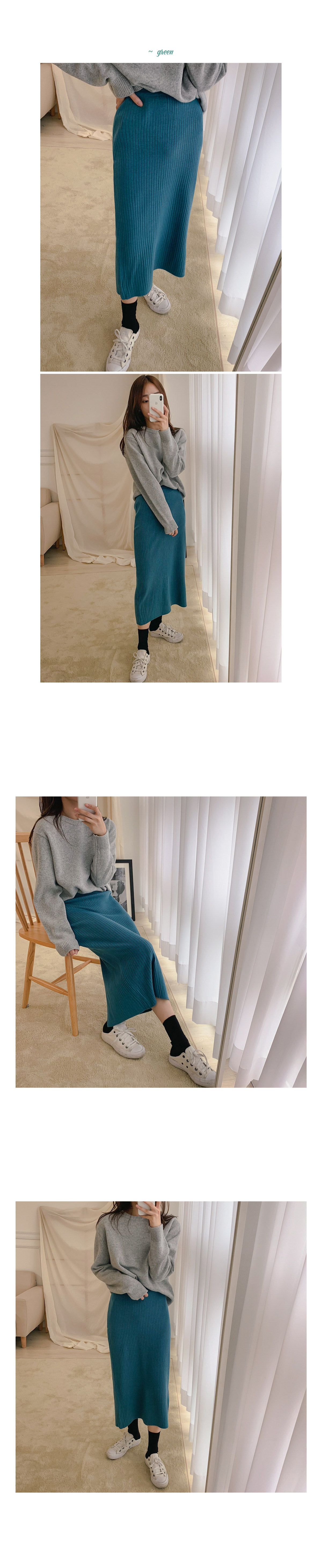 Pure ribbed knit set _Y