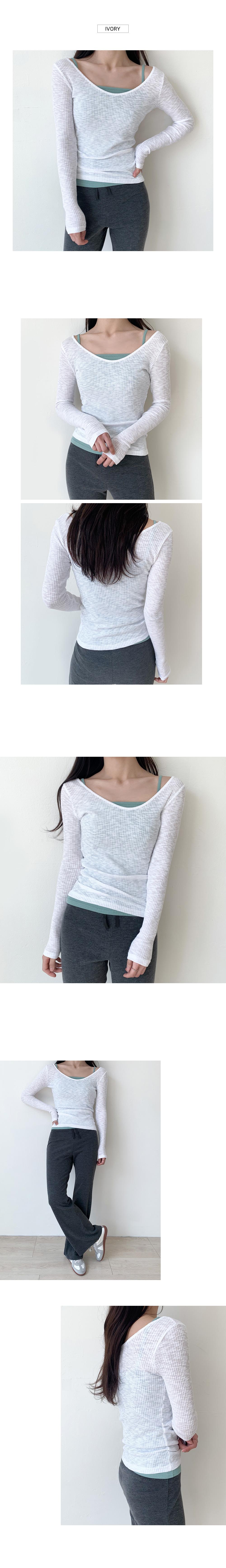 Round ribbed t-shirt