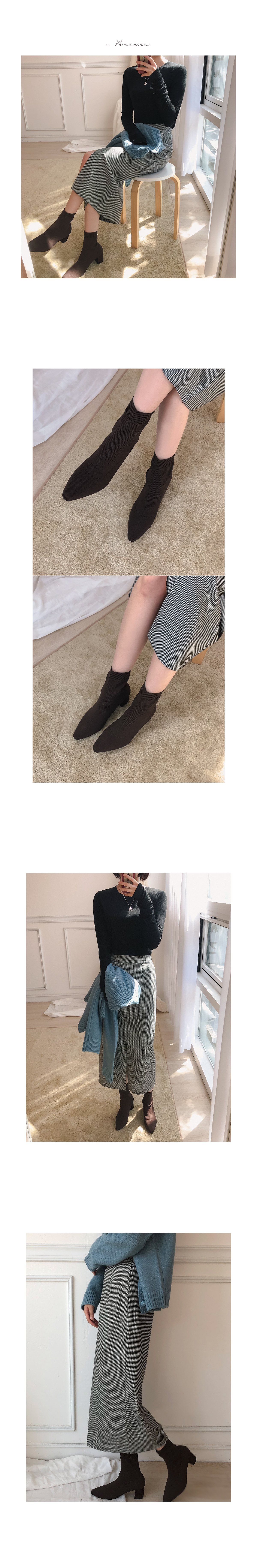 Band Ribbed Boots _Y