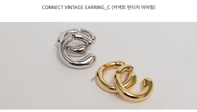Connect vintage earring_C