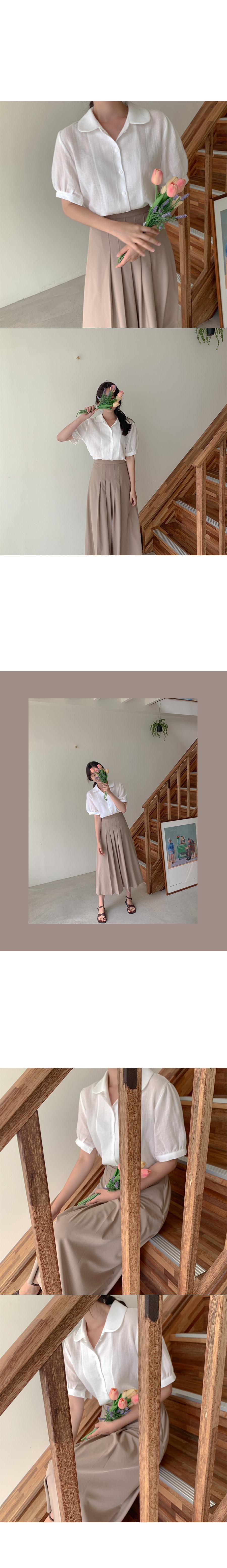 Choux pleated skirt