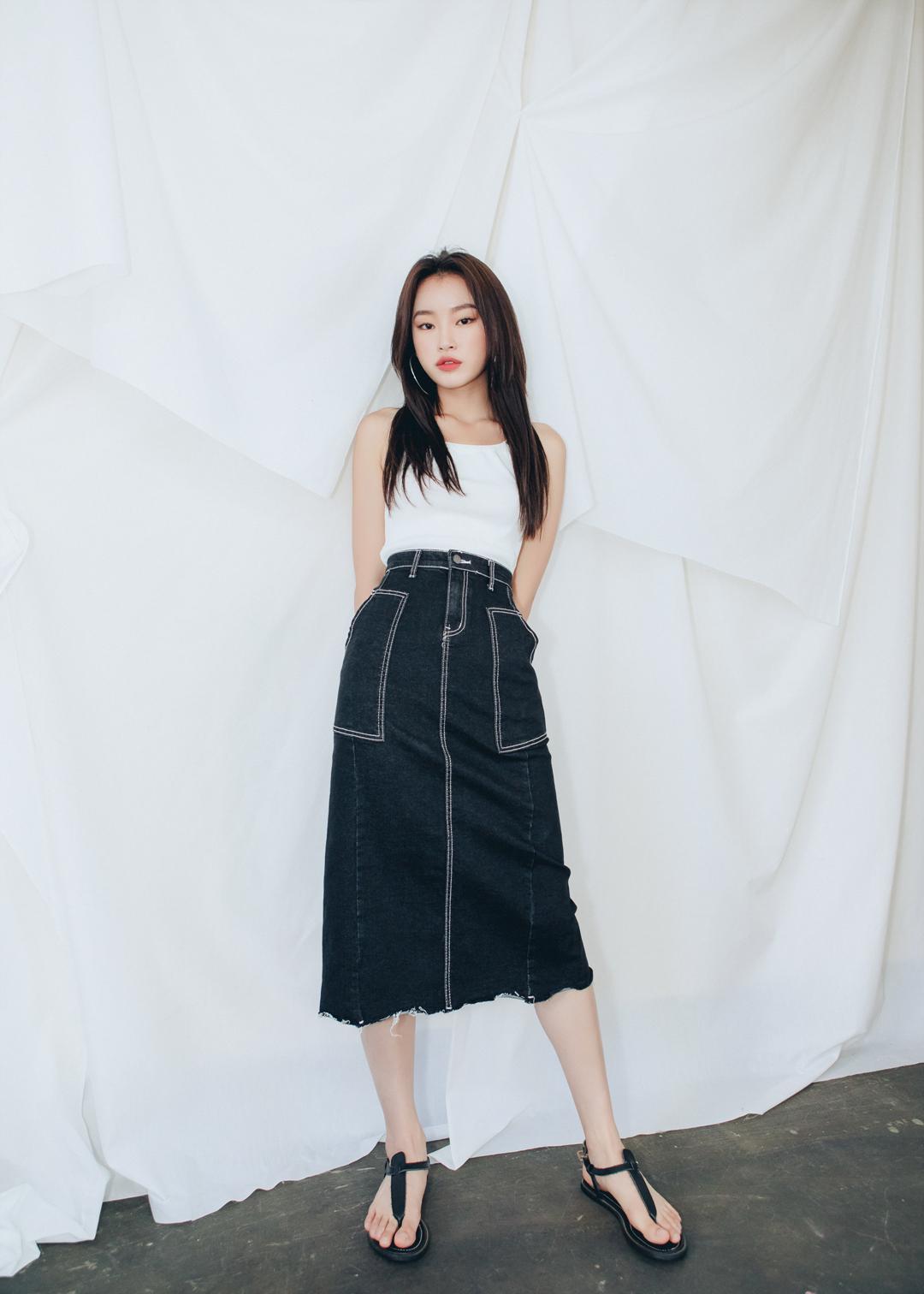 760 Stitch Long Skirt