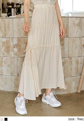 LOMEI STRING BANDING LONG SKIRT