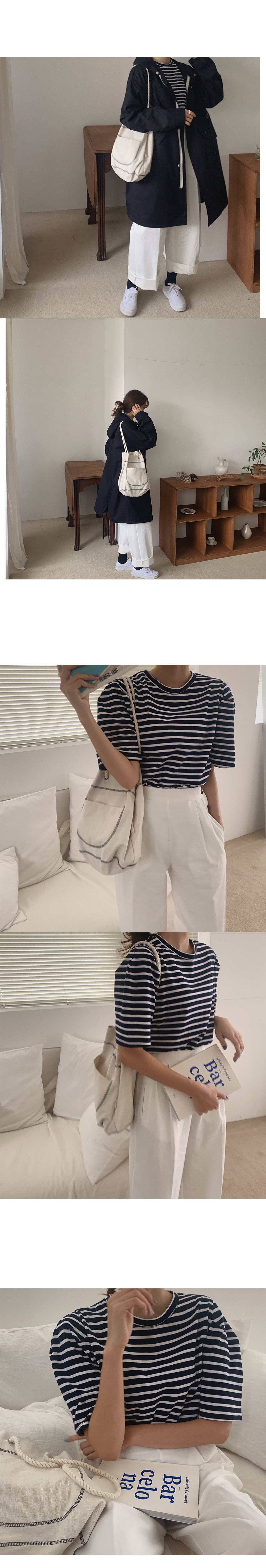 Let's button cotton pants