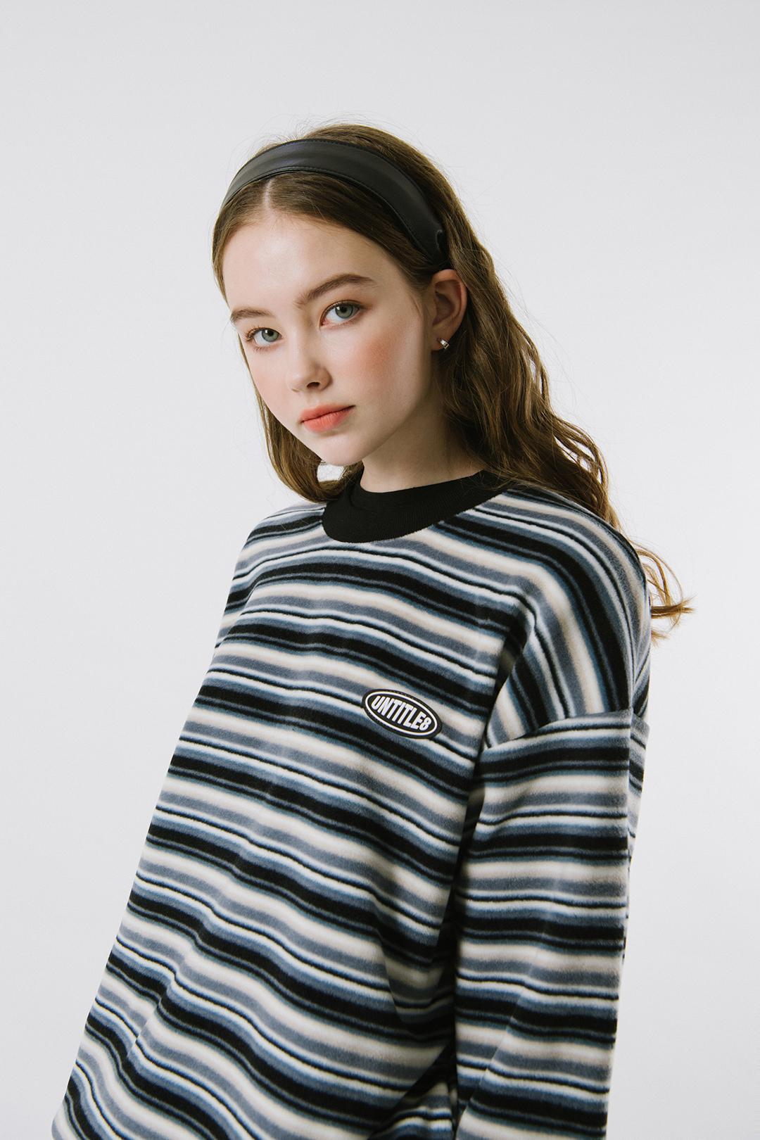 Fleece Stripe Sweat Shirt