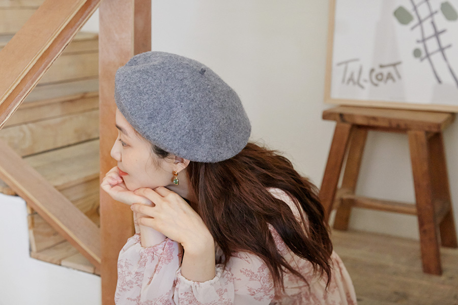 More color wool beret_C  (size : one)