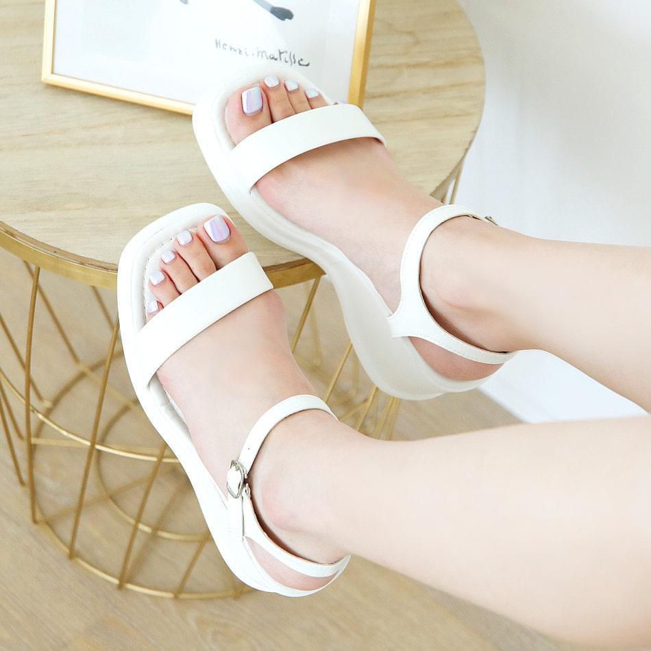 Decae wedge strap sandals 7 cm