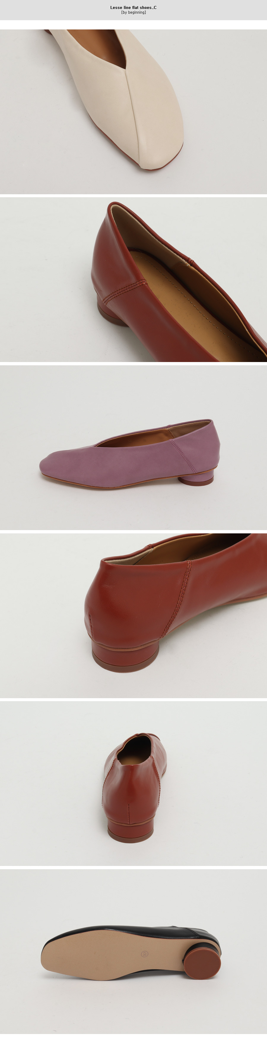 Lesse line flat shoes_C