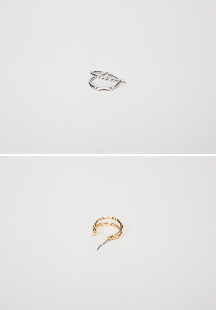 Double hoop earring_C