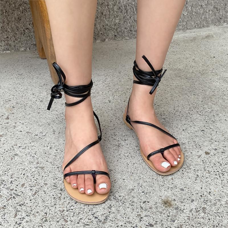 Thin strap shoes