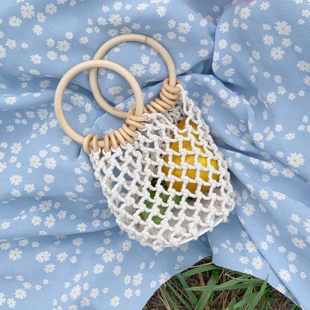 Minimalist Round Handle Net Bag