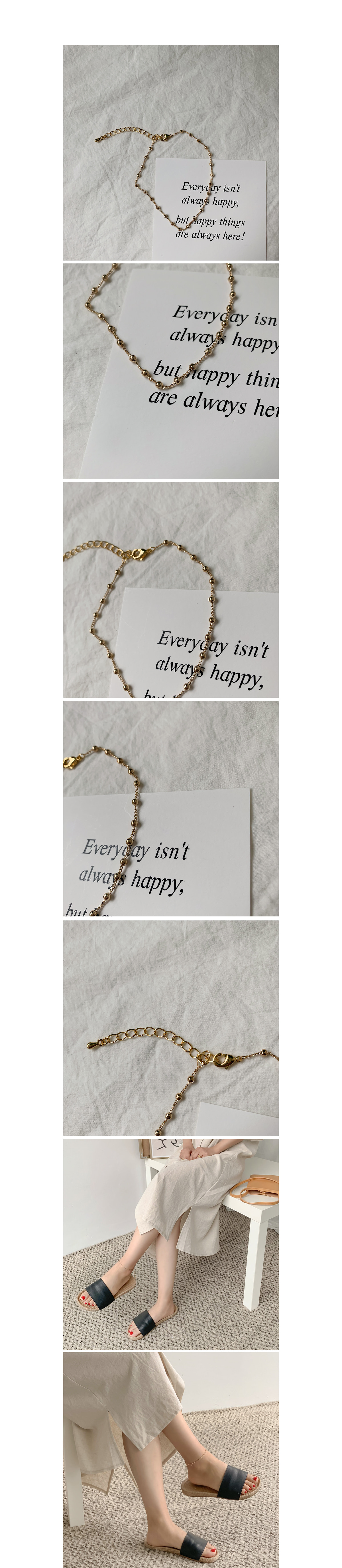 Gold mini ball bracelet