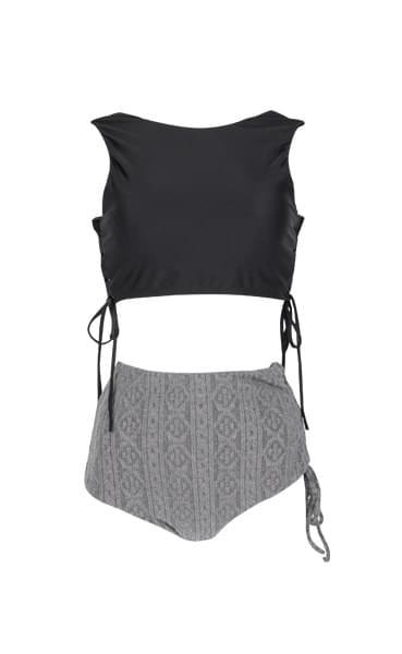 Veil knit strap bikini