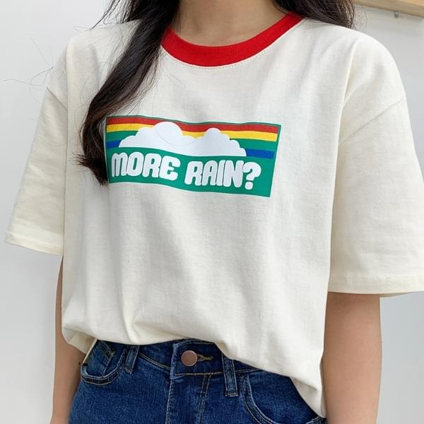 Rain color short sleeve T