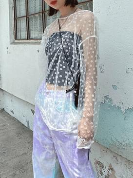 See-through Heijou Flower T-shirt