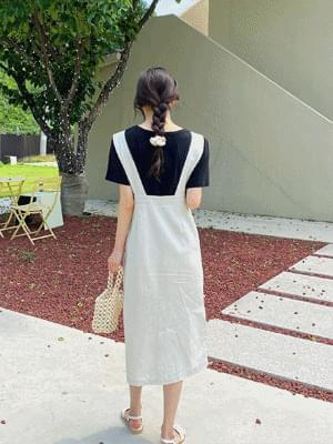 Oatmeal linen dress