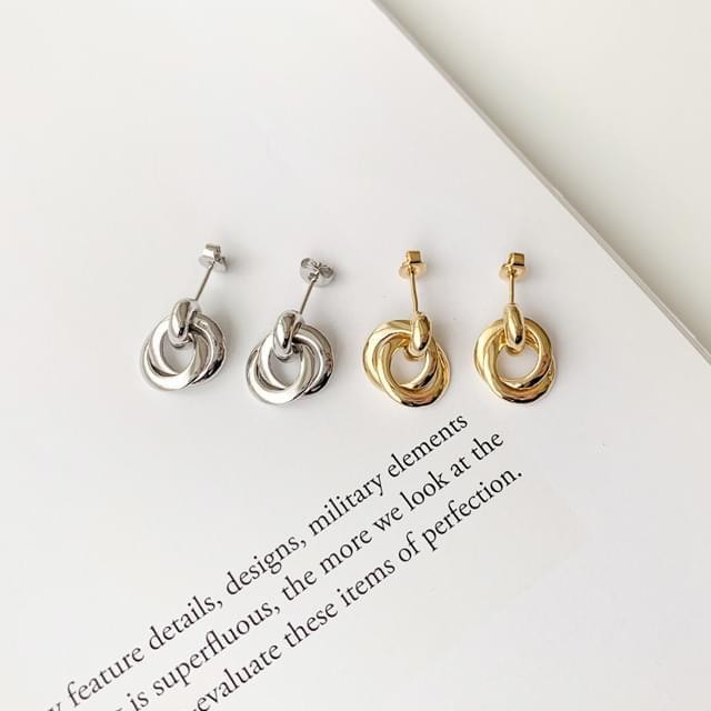 韓國空運 - Melino bold silver925 drop earrings 耳環
