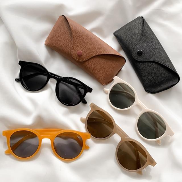 Premium leather sunglasses glasses case
