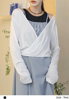 RAYON LAYERED WRAP T