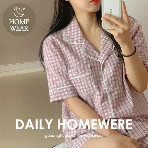 첵Linen Pajama Set
