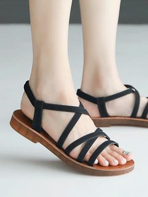 Melanin slingback sandals 2 cm