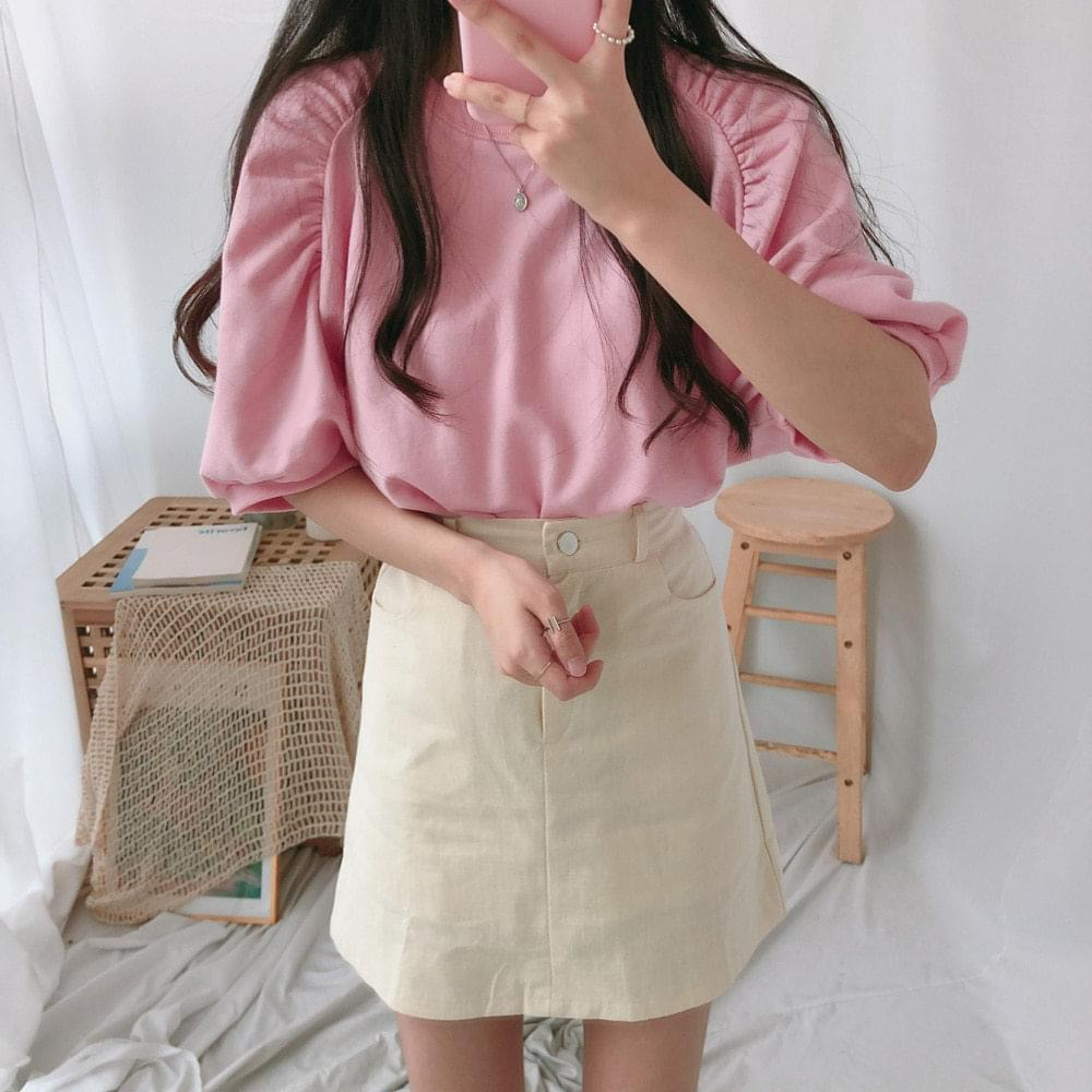 Mini Shirring Short-Sleeve