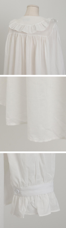 Pure frill cotton blouse_A