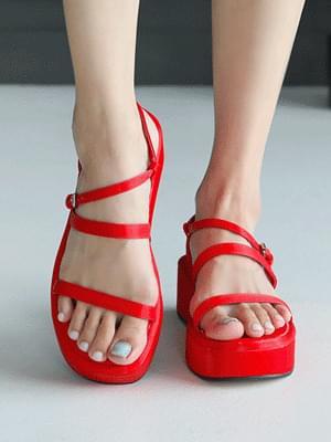 Fillet soled slingback sandals 5 cm