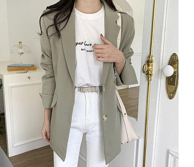 ★Own-made high-quality★Modern Basic JK♥ Unique roll-up sleeves