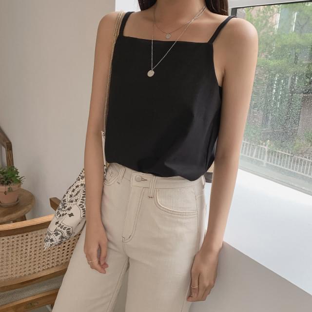 Square neck cotton sleeveless