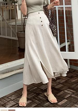 Danah Han Linen Button Skirt