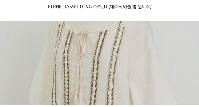 Ethnic tassel long ops_H