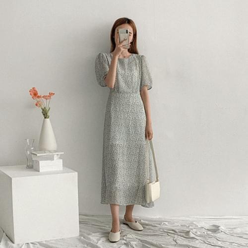 Sandy Long Flower Dress